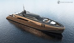 Federico Fiorentino, The Belafonte. New Federico Fiorentino Superyacht Concept Is Already Drawing Attention. Yacht Design, Boat Design, Cabin Cruiser, Love Boat, Yacht Boat, Speed Boats, Motor Boats, Water Crafts, Modern Classic