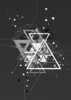 Triangle Poster Design Inspiration - Geometry Split