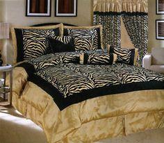 7pcs Black Gold Red Palace Dragon Jacquard Comforter Set