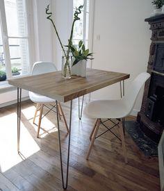 Un petit appartement aménagé avec des meubles chinés table diy