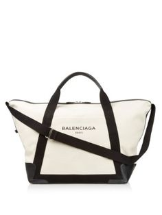 Ligne large cotton-canvas weekend bag | Balenciaga | MATCHESFASHION.COM AU