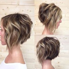 10 Trendy Stacked Hairstyles for Short Hair: Practicality Short Hair Cuts - Love this Hair