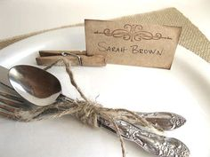 Rustic and Chic Place Cards  wedding dinner party by BluePearls, $6.00