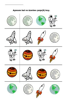 Finding the same on the theme of preschool space, matching study … – Prescholl Ideas Educational Games For Preschoolers, Preschool Activities, Matching Worksheets, Free Printables, Study, Crafts, Ideas, Space, Blue Prints