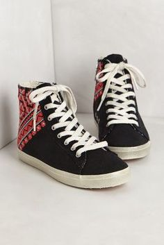 Embroidered high tops