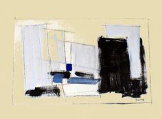 Jean-Paul BARRAY, Abstraction, gouache sur papier, vers 1960. Technique : gouache sur papier, sbd., 51 X 67 cm