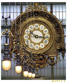 The huge clock at Orsay Museum (Musée d'Orsay) in Paris, France Art Nouveau, Steampunk, Somewhere In Time, As Time Goes By, I Love Paris, Beautiful Paris, Simply Beautiful, Antique Clocks, Vintage Clocks