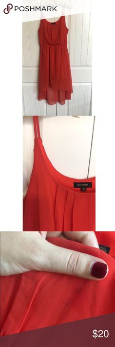 Hi-Lo Red dress ❤️ This dress is flowy and beautiful when worn! It is hi-lo with a stretchy satin material under to ensure nothing is seen through the dress. Dresses High Low
