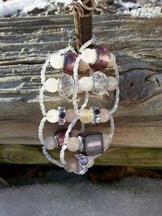 European bead bracelet, European bead, ladder bracelet, Euro bead bracelet, Rose quartz bracelet, gift for her, gift for mom, Mothers day