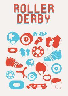 Roller Derby by Rhiannon Heeley, via Behance
