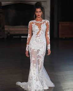 Berta Fall 2017 Wedding Dress Collection | Martha Stewart Weddings – Long-sleeve mermaid wedding dress