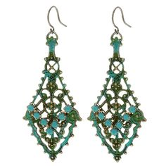Andalucia Earrings - Beading Projects & Tutorials - Beading Resources | Beadaholique