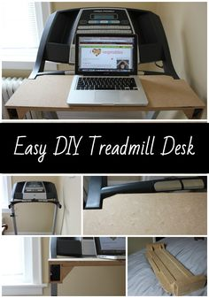 This treadmill desk cost less than $10 to make! You can easily take it on and off the treadmill and it's the perfect workstation!