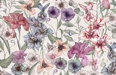 Today I am so thrilled to turn the spotlight on Textile Design Lab member Casey Saccomanno, whose intricate hand-painted style never ceases to make Textile Prints, Textile Patterns, Textile Design, Floral Patterns, Watercolor Pattern, Floral Watercolor, Design Lab, Pop Design, Design Concepts