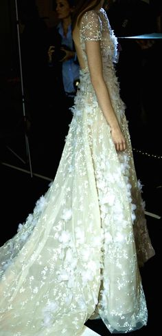 Elie Saab bridal wedding white gown dress