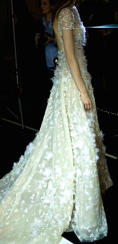 Elie Saab bridal wedding white gown dress