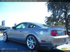 Vapor Silver Metallic / Black 2008 Ford Mustang GT Premium Coupe