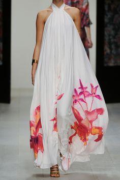 Issa | Printed silk halterneck gown | NET-A-PORTER.COM - $1400