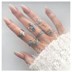 More jewelry is better #boho #rings #accessories