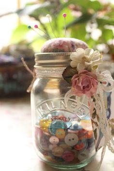 Tutorial: Kilner jar pin cushion