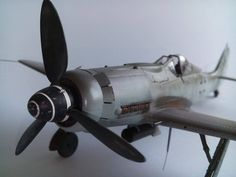 Focke Wulf 190 d-9 german fighter from the last month of WWII, 1: 48 detailed military aircraft scale model, completed, finished.
