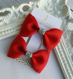 Hey, I found this really awesome Etsy listing at https://www.etsy.com/listing/490992019/red-tuxedo-bow-set-holiday-hair-bows