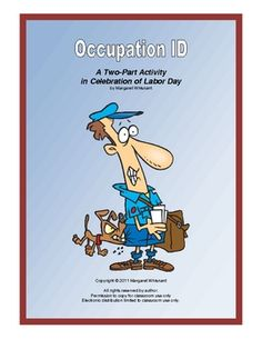 Occupation ID--An Activity for Labor Day--FREE