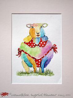 """No. 025 der wandklex-Unikatserie """"Ich war schon immer das Bunte Schaf der Familie"""" - nummerierte Einzelstücke! Ihr eigenes Schaf können Sie als Ihr Designerstück von wandklex® Ingrid Heuser, Ratzeburg, Germany bestellen:  im kleinen Klexshop bei DaWanda auf http://de.dawanda.com/shop/wandklex ©  Kunstatelier wandklex Ingrid Heuser, D-Ratzeburg Besuchen Sie mich auch auf facebook: https://www.facebook.com/wandklex"""
