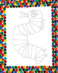 the very hungry caterpillar encore coloring book panel by andover fabrics close up