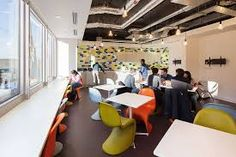 Image result for staff canteen design Canteen, Conference Room, Restaurant, Work Spaces, The Originals, Office Ideas, Table, Commercial, Group