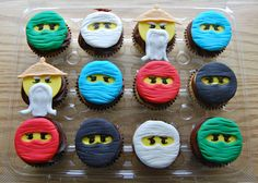 Ninjago Edible Cupcake Toppers Karate Birthday, Edible Cupcake Toppers, Party Ideas, Unique Jewelry, Handmade Gifts, Etsy, Kid Craft Gifts, Craft Gifts, Ideas Party
