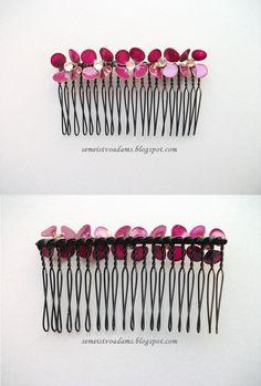 Hair accessory with nail polish by semeistvoadams.blogspot.com