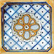 #Spanish Cordoba hand-painted #ceramic tile.