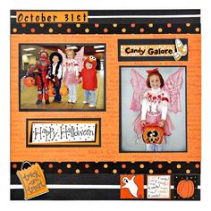 Halloween scrapbook page- wish I had seen this yesterday before I did mine!
