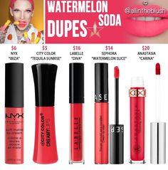 Updated Jeffree star liquid lipstick dupes in the shade Watermelon Soda // Kayy Dubb ♡