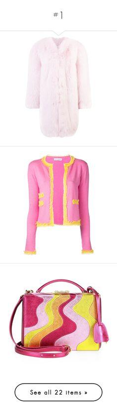 """#1"" by matan-sowatskey on Polyvore featuring outerwear, coats, 3/4 sleeve coat, pink coat, three quarter coat, tops, cardigans, cardigan top, fringe cardigan and altuzarra"