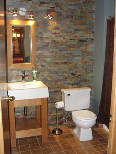 bathroom faux stone walls with patina - Yahoo Image Search Results Girl Bathrooms, Laundry In Bathroom, Bathroom Wall, Small Bathroom, Bathroom Ideas, Pool Bathroom, Country Bathrooms, Basement Bathroom, Bathroom Designs