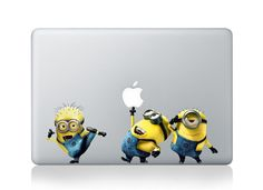 Minions Mac Decals Mac Stickers Macbook Decals Macbook Stickers Vinyl Decal for Apple Laptop Macbook Pro / Macbook Air / iPad on Etsy, $8.50