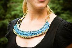 DIY utility cord necklace. Super cute!!!!