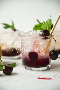 MUDDLED CHERRY MAI T
