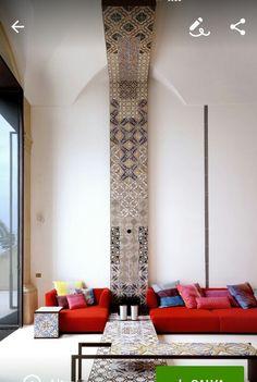 Villa a Positano decorata con maioliche di Vietri