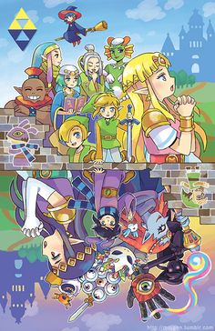 poster of Zelda - A Link Between Worlds printed on matte cardstock., poster of Zelda - A Link Between Worlds printed on matte cardstock. The Legend Of Zelda, Legend Of Zelda Memes, Legend Of Zelda Breath, Legend Of Zelda Poster, Princesa Zelda, Video Games Funny, Link Zelda, Breath Of The Wild, Second World
