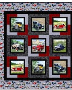"""Nice way to """"frame"""" small panels Ties them together with dramatic pieced background"""