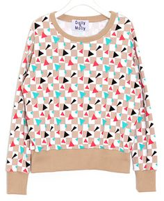 Neon Checkered Sweatshirt (2 Colors) | 2014 Spring & Summer | Dolly & Molly | www.dollymolly.com | #women #girly #red #vintage #2014ss #dailystyle #lookbook #ootd #korea #fashion #colorful #checkered #chic #beige #unique