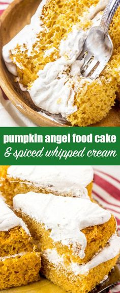 Pumpkin Angel Food Cake Recipe with Cool Whip Frosting Looking for a unique pumpkin dessert recipe? Give this easy, light Pumpkin Angel Food Cake recipe a try. Youll love the simple spiced whipped topping. via The Best Cake Recipes Pumpkin Angel Food Cake Recipe, Pumpkin Cake Recipes, Pumpkin Dessert, Pumpkin Recipes Healthy Easy, Angel Food Cake Desserts, Angel Cake, Cool Whip, Thanksgiving Desserts Easy, Easy Desserts