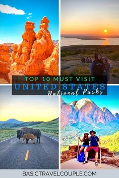 Did you know that there are 62 US National Parks? To help you narrow down which ones to visit, we compiled the top ten National Parks to visit in the USA! #nationalpark #usa #ustravel #nature Canada Travel, Travel Usa, Top 10 National Parks, Best Travel Credit Cards, New Zealand Landscape, Perfect Road Trip, Life Is An Adventure, Top Ten, Solo Travel