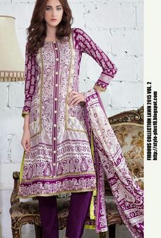 Design 19236 From Collection Lawn 2015 Vol.2 By Firdous