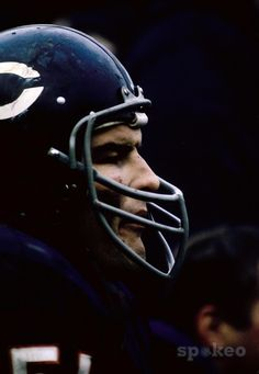 Chicago Bears Dick Butkus on the sideline during the 1965 season