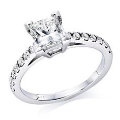3/4 ctw. Princess Cut Diamond Solitaire Engagement Ring in 14k White Gold  http://electmejewellery.com/jewelry/wedding-anniversary/engagement-rings/34-ctw-princess-cut-diamond-solitaire-engagement-ring-in-14k-white-gold-com/