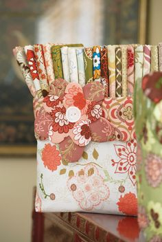 Neat solution to store your fabrics. Botanica #fabric #bin #organizer